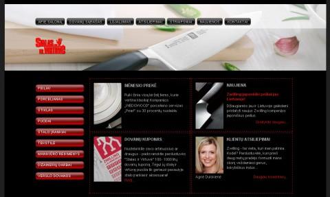 Zwilling parduotuves internetine svetaine